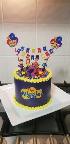 Second Birthday Cakes, 2nd Birthday Boys, Second Birthday Ideas, Cute Birthday Cakes, 2nd Birthday Parties, Wiggles Cake, Wiggles Party, Wiggles Birthday, Partys
