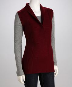 Take a look at this ELIO Red Wool Sleeveless Sweater by KareElla & ELIO on #zulily today!