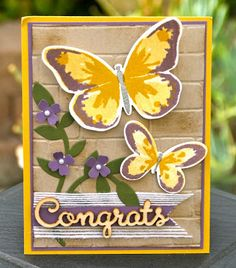 Krystal's Cards: Stampin' Up! Watercolor Wings Hello! So Perfect! #stampinup #krystals_cards #watercolorwings #onlinestampclass #papercrafts #cardmaking #handstamped #stampsomething #sendacard