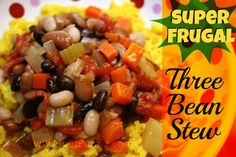 super frugal three bean stew recipe