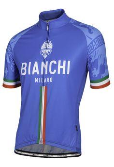2016 Bianchi-Milano Sado Italian Blue Short Sleeve Jersey Cycling Wear 8936a35bb