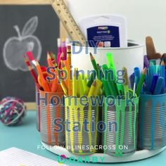 This DIY homework station is a genius back to school idea and the hack uses a coffee can