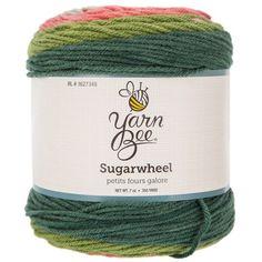 Petits Fours Galore Yarn Bee Sugarwheel Yarn Knit Or Crochet, Crochet Hooks, Yarn Bee, Print Coupons, Yarn Needle, Knitting Needles, All The Colors, Crochet Patterns, Hobby Lobby