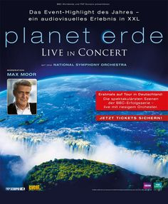 Planet Erde – LIVE IN CONCERT 2015 - Tickets unter: www.semmel.de