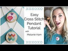 ▶ Easy Cross Stitch Pendant Tutorial - YouTube
