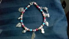 """This is the """"Fruit of the Spirit"""" bracelet that I made for our 2013 Women's Retreat"""