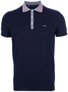 DSQUARED2 Logo Polo Shirt---love the collar and placket(button part)