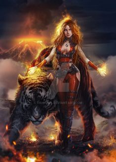 Chandra by Tira-Owl.devianta… on Dark Fantasy Art, Fantasy Art Women, Beautiful Fantasy Art, Fantasy Girl, Fantasy Artwork, Fantasy Female Warrior, Female Art, Illustration Fantasy, Digital Illustration