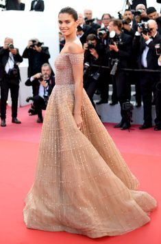 Sara Sampaio attends the screening of 'Girls Of The Sun (Les Filles Du Soleil)' during the 71st annual Cannes Film Festival at Palais des Festivals.