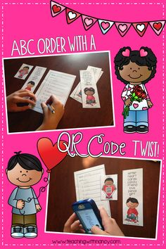 Free: ABC Order with a QR Code Twist!  This activity is perfect to use as a station for Daily 5.