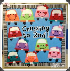 Cruisin' to Summer! End of the Year Bulletin Board Craftivity - First Grade Blue Skies