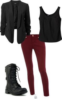 """Rocker Night Look"" by brainyblonde on Polyvore"