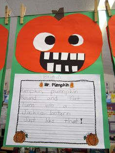 Goofy Pumpkinheads FREEBIE! complete instructions and a copy of the writing paper