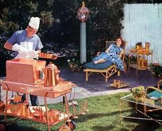 50s back yard barbecue
