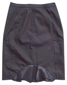 Sinclaire 10 'paloma' Stretch Wool Ruffle Paneled Pencil Saks Skirt. Free…