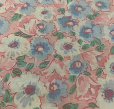 Vintage Cotton Fabric 2 12 Yards by 38 Wide of Brown and Blue and Off White Shirt Fabric Curtain Fabric Vintage Fabric Yardage Teal Blue