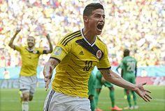 コートジボワール戦の後半、先制ゴールを決め喜ぶコロンビアのロドリゲス=19日、ブラジリア(EPA=時事) ▼20Jun2014時事通信 後半2点、コロンビア逃げ切る=コロンビア-コートジボワール〔W杯〕 http://www.jiji.com/jc/zc?k=201406/2014062000039 #Brazil2014 #Colombia_Ivory_Coast_group_C #James_Rodriguez