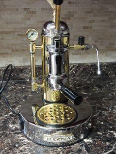Elektra Microcasa a Leva Espresso Machine in Chrome / Brass