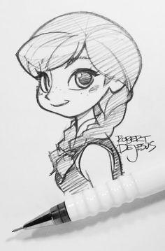 Anna by Banzchan on deviantART Disney Frozen Princess Anna sketch Disney Art ♥ cool pencil ♥ Disney Sketches, Disney Drawings, Cute Drawings, Drawing Sketches, Sketching, Disney Kunst, Disney Art, Persona Anime, Character Drawing