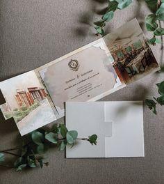 Convite de noivado com a aquarela do local ♥ #criacaoscards #essecasamentopromete
