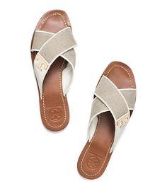 664014df27be6 Tory Burch. Slide Sandals · Flat Sandals · Shoes Sandals ...