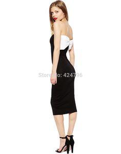 Pas cher Blanc grand arc décoration tube supérieur élégante hip mince robe d'une seule pièce robe les femmes se habillent vestidos tenue décontractée, Acheter  Robes de qualité directement des fournisseurs de Chine:   Détails du produit                                                                       Taille informations    Remar