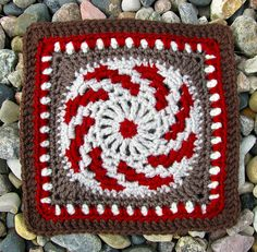 Ravelry: fire in the meadow 6 inch square