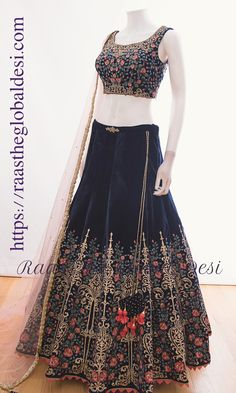 Bridal party attire navy products ideas for 2019 Indian Fashion Dresses, Indian Gowns Dresses, Dress Indian Style, Indian Designer Outfits, Indian Designers, Indian Wear, Maxi Dresses, Indian Wedding Gowns, Indian Bridal Outfits
