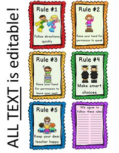Editable Classroom Rules & Whole Brain Teaching Rules Posters - FREE from First Grade Brain - Informations About Editable Classroom Rules & Whole Brain Teachin Kindergarten Rules, Teaching Rules, Whole Brain Rules, Whole Brain Teaching, Class Rules Poster, Classroom Rules Poster, First Grade Classroom, School Classroom, School Teacher