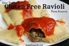 Gluten Free Ravioli Recipe | Frugal Farm Wife Ooooh- I want to surprise my mom with this one night! :) LOL