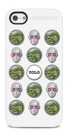 """""""YOLO"""" Custom PHONE CASES with interchangeable charms! #fashion #accessories #iphonecase #DIY #DIYphonecase #yolo"""