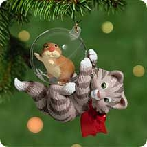 Kitten and Yarn Holiday Ornament Katherine/'s 2001  New from old store stock