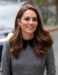 March 2019 Plaited Updo, Yellow Fascinator, Mocha Hair, Front Hair Styles, Hair Front, Kate Middleton Hair, Sleek Ponytail, Lace Hair, Top Knot