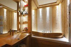 Rustic small bathroom design