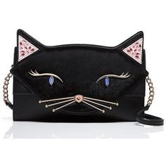 Kate Spade Jazz Things Up Cat Cali featuring polyvore, women's fashion, bags, handbags, shoulder bags, cross body, crossbody handbag, handbags crossbody, kate spade purses, shoulder handbags and cat purse