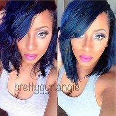 black woman green hair - Google Search