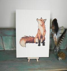 Fox Illustration Digital Print on A4 300gsm Ivory by LyndseyGreen