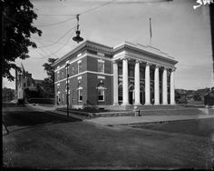 Charlottesville Post Office from Negatives from the Charlottesville photographic studio plus an index volume;  Holsinger's Studio (Charlottesville, Va.) (1890-1938) Albert and Shirley Small Special Collections Library, University of Virginia.