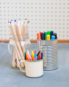 Ideas for the Ideal Art Supply Closet for kids from the DesignMom blog