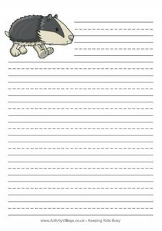 Activity village lined paper