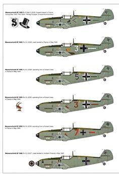 Messerschmitt Bf 109E-1, 3 and 4