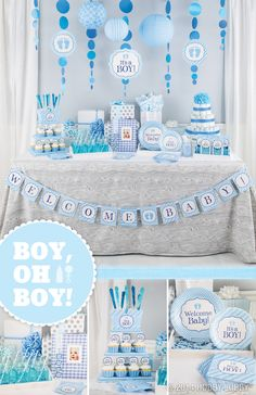 Boy, oh boy! You'll be celebrating the mother-to-be in style with these adorable baby shower décor items.