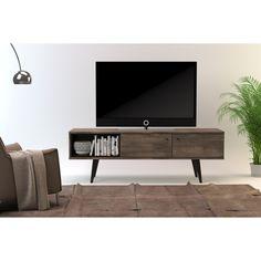 Midtown Concept Marseille Mid-Century 2-Cabinet TV Stand