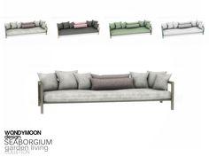 - Seaborgium Garden Living - Sofa Found in TSR Category 'Sims 4 Sofas & Recliners'