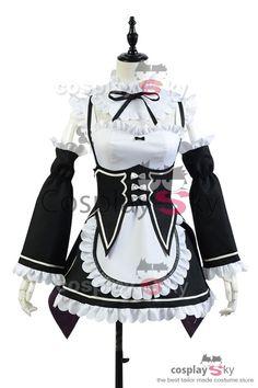 #CosplaySky Re:Zero kara Hajimeru Isekai Seikatsu Ram Traje Cosplay Disfraz_1