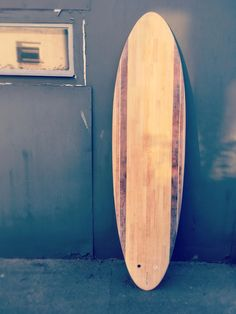 Hollow wooden surfboard 6'8 round tail egg
