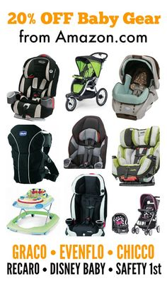 Amazon is offering an awesome discount on baby gear. We love Amazon deals!