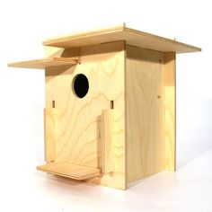 SO CLEVER!  What began as a project with his daughter grew into an intelligently constructed birdhouse for all to enjoy. Designer and artist Michael Oliveri crafted this innovative bird sanctuary as a puzzle so that each piece slides together neatly without requiring nails or glue. Made from wood, it's a wonderful craft project for you and your kids to enjoy.
