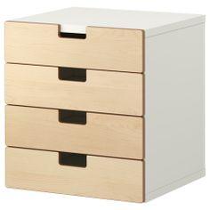 STUVA Combi almacenaje cajones - blanco/abedul - IKEA