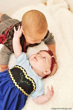 How to make a baby Anna Costume (so cute)!  - Rae Gun Ramblings